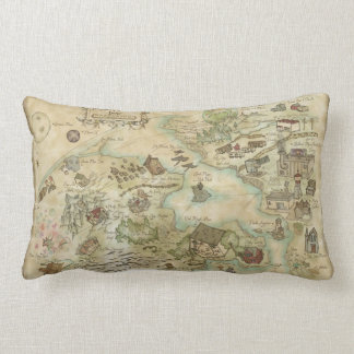 Sideshow Monkey Map Pillow