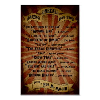 Sideshow Table of Contents Poster