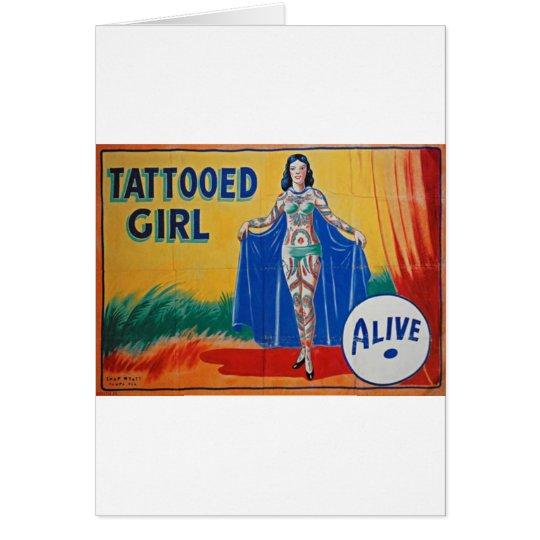Sideshow Tattooed Girl Card