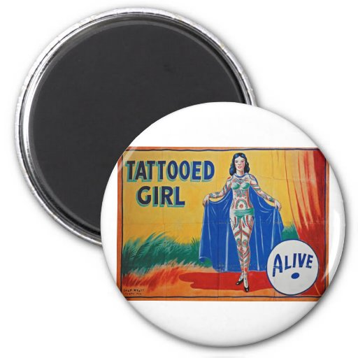 Sideshow Tattooed Girl Refrigerator Magnets