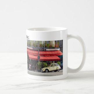 Sidewalk Café and Old Car Paris Coffee Mug