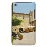 Sidewalk cafe beside a church, Romanesque iPod Touch Case-Mate Case