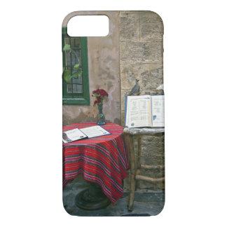 Sidewalk cafe, Chania, Crete, Greece iPhone 8/7 Case