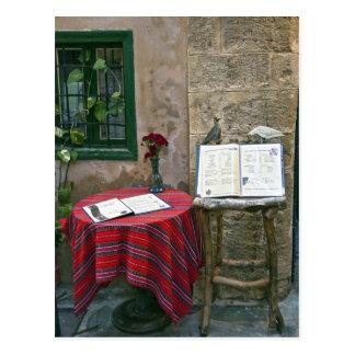 Sidewalk cafe, Chania, Crete, Greece Postcard