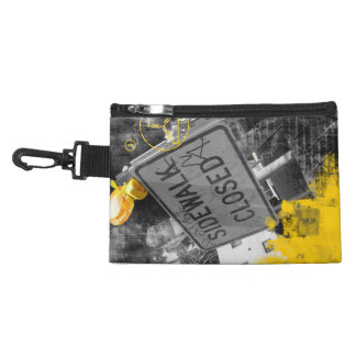 Sidewalk Closed Sign Accessories Bag