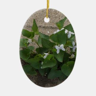 Sidewalk Flower Ceramic Ornament