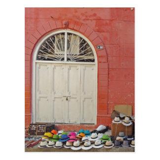 Sidewalk Hat Store - Cartagena Colombia Postcard