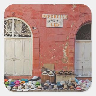 Sidewalk Hat Store - Cartagena Colombia Square Sticker