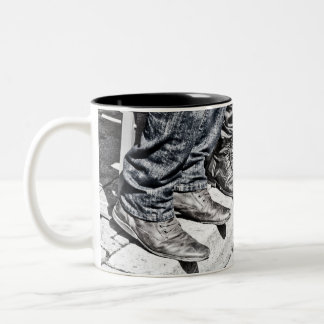 Sidewalk shoes Two-Tone coffee mug