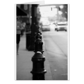 Sidewalk traffic chain card
