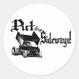 Sideways1 Classic Round Sticker