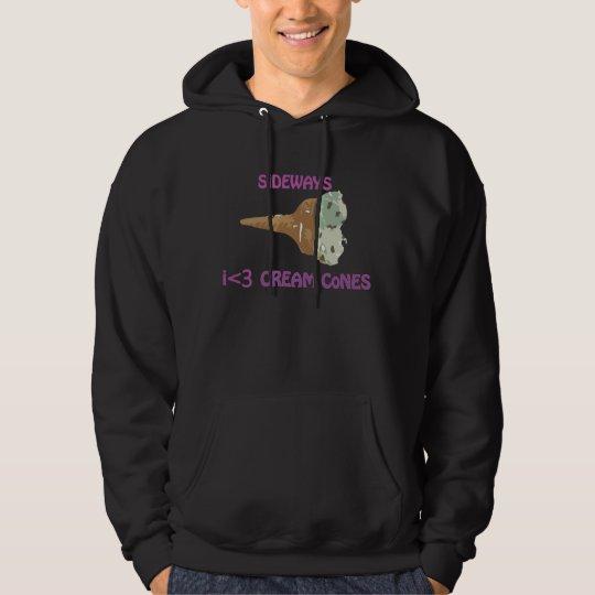 sideways ice cream cones hoodie