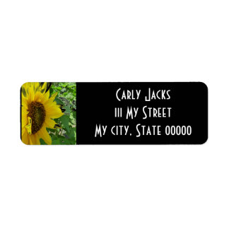 Sideways Sunflower Label