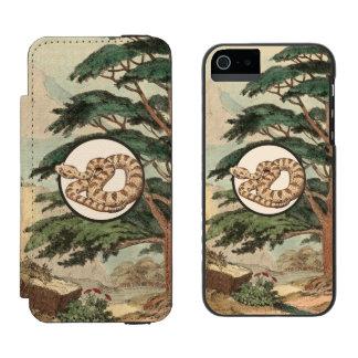 Sidewinder en el ejemplo del hábitat natural funda billetera para iPhone 5 watson