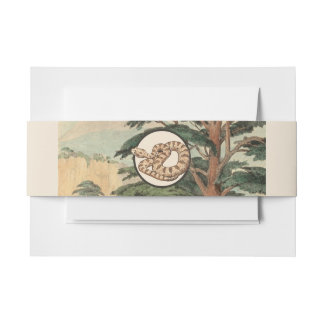 Sidewinder In Natural Habitat Illustration Invitation Belly Band