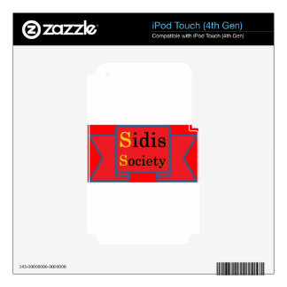 Sidis Society store Decal For iPod Touch 4G