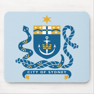 Sidney Australia Coat of Arms Mouse Pad