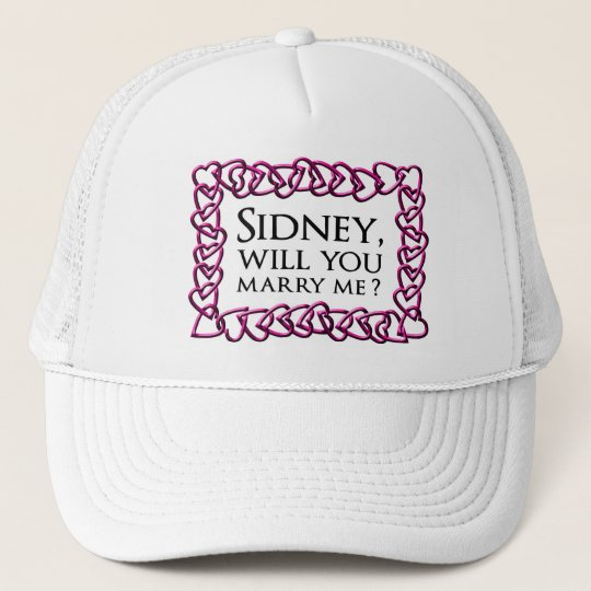 Sidney Crosby Sign Trucker Hat