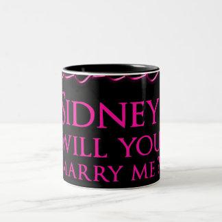Sidney Crosby Sign Two-Tone Coffee Mug