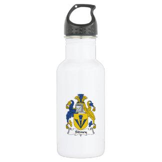 Sidney Family Crest 18oz Water Bottle