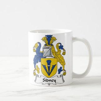 Sidney Family Crest Classic White Coffee Mug