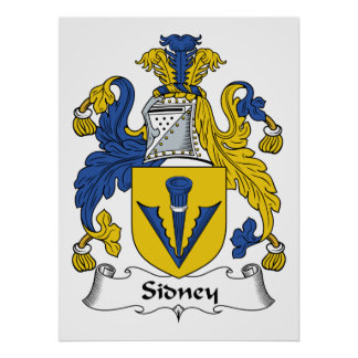 Sidney Family Crest Print