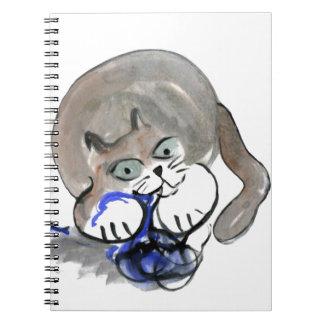 Sidney roe en el hilado azul libretas espirales