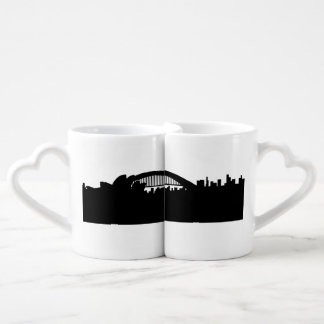 sidney skyline couples' coffee mug set