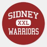 Sidney - Warriors - Middle - Sidney New York Round Sticker