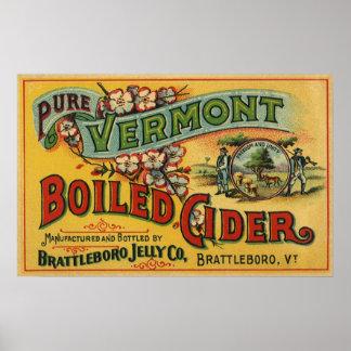 Sidra hervida jalea de Brattleboro de Vermont Póster