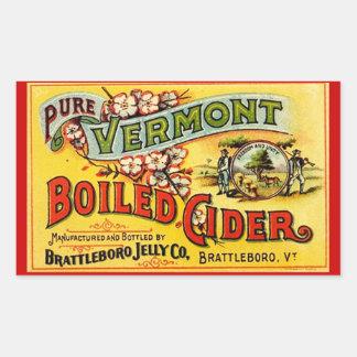 Sidra hervida Vermont pura Labl viejo del vintage