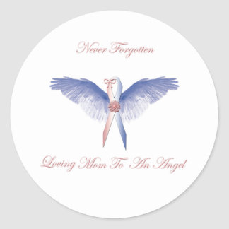 SIDS angel girl lost Classic Round Sticker