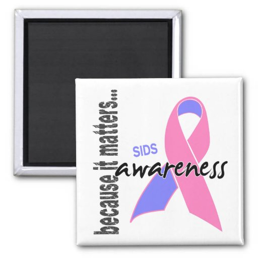 SIDS Awareness 2 Inch Square Magnet