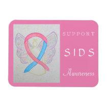 SIDS Awareness Ribbon Angel Custom Magnet