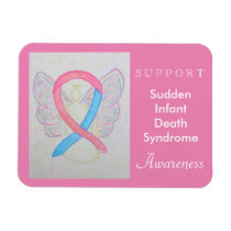 SIDS Awareness Ribbon Angel Custom Magnet