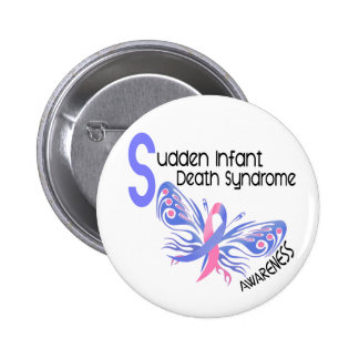 SIDS BUTTERFLY 3 1 PINBACK BUTTONS
