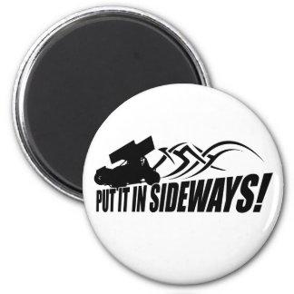 Sidways2 2 Inch Round Magnet