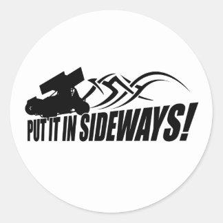 Sidways2 Classic Round Sticker