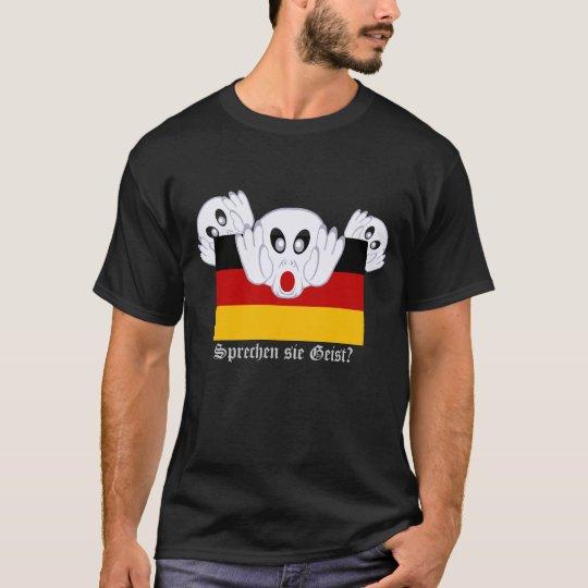Sie Geist de Sprechen con la bandera alemana Playera