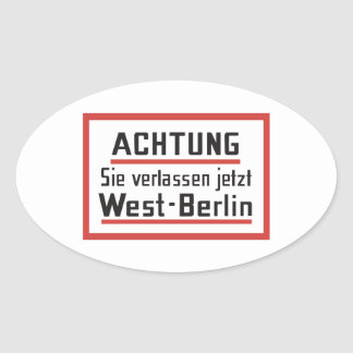 Sie verlassen el jetzt muestra de Berlín Pegatina Ovalada