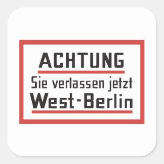 Sie verlassen el jetzt muestra de Berlín Pegatina Cuadrada