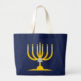 siebenarmiger leuchter menorah more candleholder jumbo tote bag