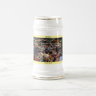 """Siebkens """"Last Open Bar"""" art stein 18 Oz Beer Stein"""