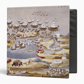 Siege and Naval Battle, plate 13 from 'Pictorial H 3 Ring Binders