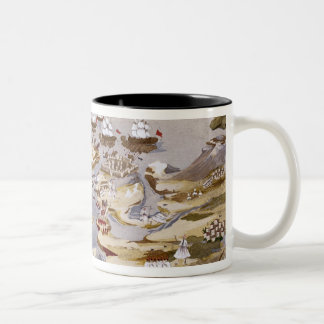 Siege and Naval Battle, plate 13 from 'Pictorial H Two-Tone Coffee Mug