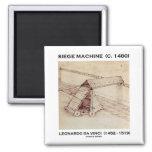 Siege Machine (C. 1480) Leonardo da Vinci Refrigerator Magnet