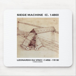 Siege Machine (C. 1480) Leonardo da Vinci Mouse Pad