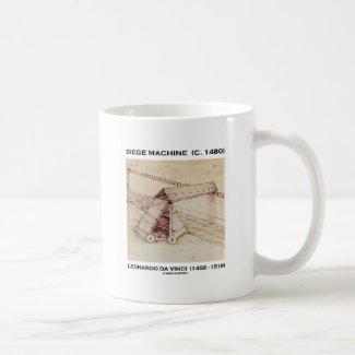 Siege Machine (C. 1480) Leonardo da Vinci Coffee Mugs