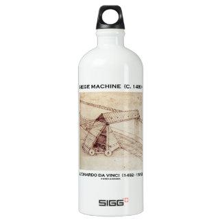 Siege Machine (Circa 1480) Leonardo da Vinci Aluminum Water Bottle