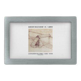 Siege Machine (Circa 1480) Leonardo da Vinci Rectangular Belt Buckles
